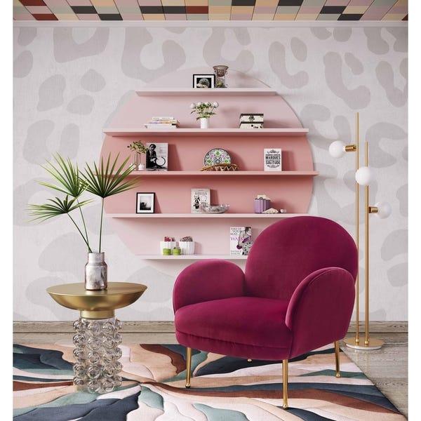 Shop Gwen Plum Velvet Chair - Overstock - 286548