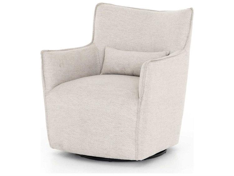 Four Hands Kensington Noble Platinum Swivel Accent Chair .