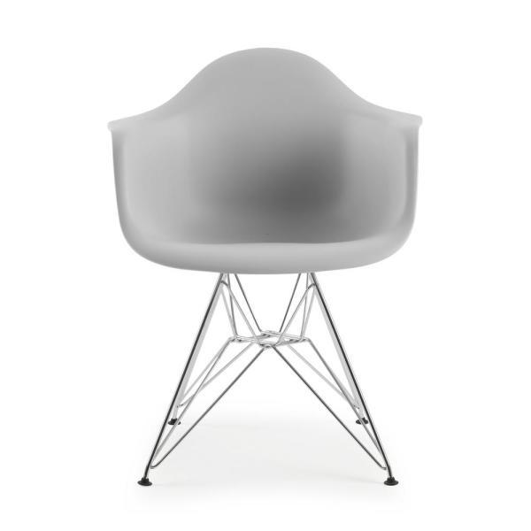 EDGEMOD Padget Harbor Grey Arm Chair HD-111-CRM-HRGY - The Home Dep