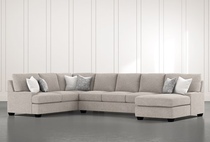 Harper Down II 3 Piece Sectional With Right Arm Facing Chaise .