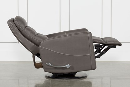 Hercules Grey Swivel Glider Recliner | Living Spac