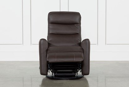 Hercules Chocolate Swivel Glider Recliner | Living Spac