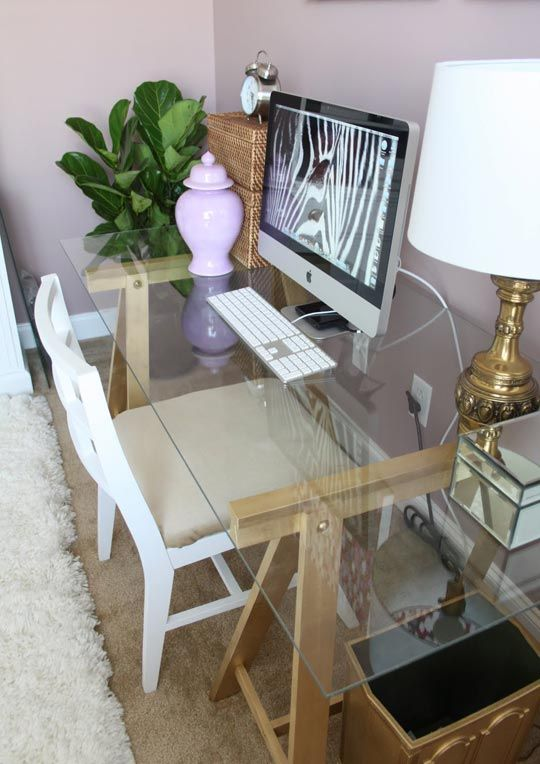 Trash to Treasure: Mrs. DeVore's High Impact $10 Desk | Glass .