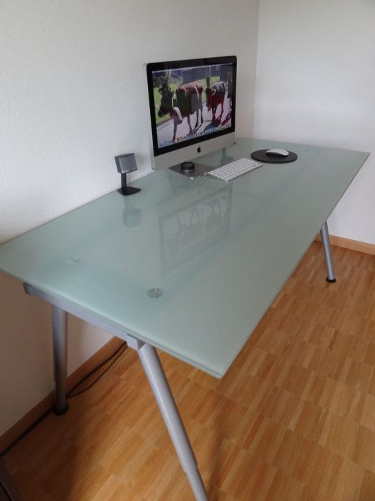Ikea Frosted Glass Desk - Design Desk Ide