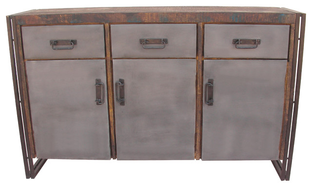 3 Door 3 Drawer Buffet - Industrial - Buffets And Sideboards - by Mo