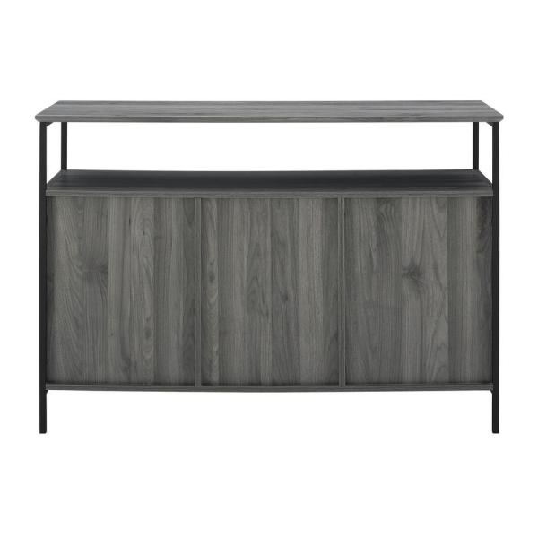 Welwick Designs Industrial Slate Grey 3-Door Buffet HD8191 - The .