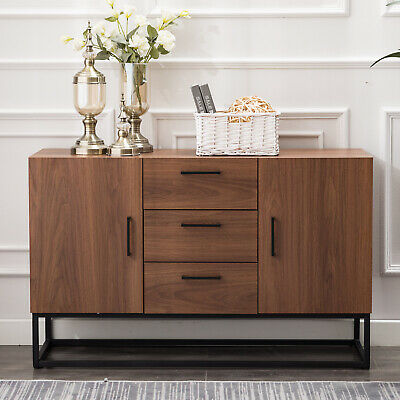Industrial Design Buffet Table Sideboard Solid Wood 3 Drawers .