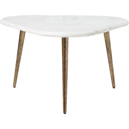 Intertwine Triangle Marble Coffee Table + Reviews | CB2 | Coffee .