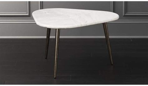 Intertwine Triangle Marble Coffee Table #taper#legs#center .