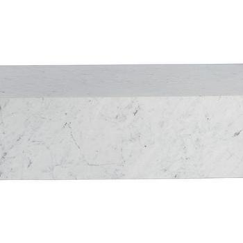 Intertwine Rounded Triangle White Marble Coffee Tab