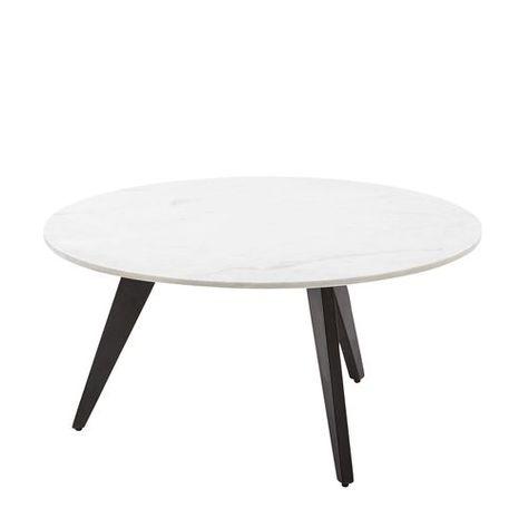 Rocket White & Black Marble Coffee Table | Black marble coffee .