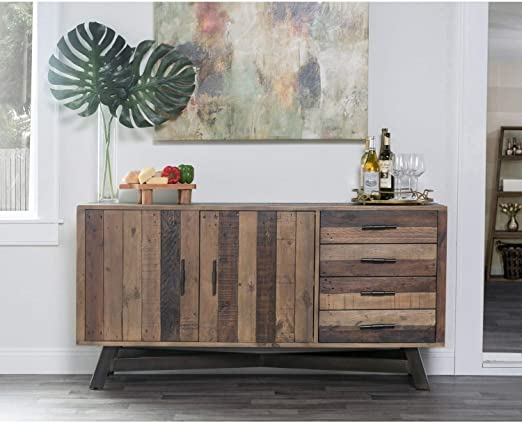 Amazon.com: Reclaimed Wood 65-inch Sideboard Brown Mid-Century .