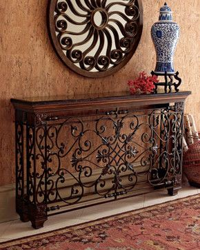 Ambella Wrought Iron Console - traditional - buffets and .