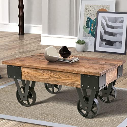 Factory Cart Coffee Table: Amazon.c
