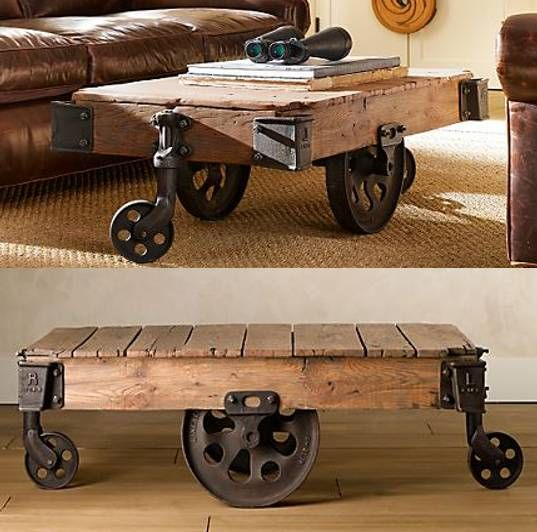 Reclaimed Factory Cart Table from Restoration Hardware | Factory .