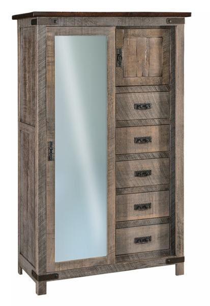 Amish Ironwood Sliding Door Chifferobe | Sliding doors, Bedroom .