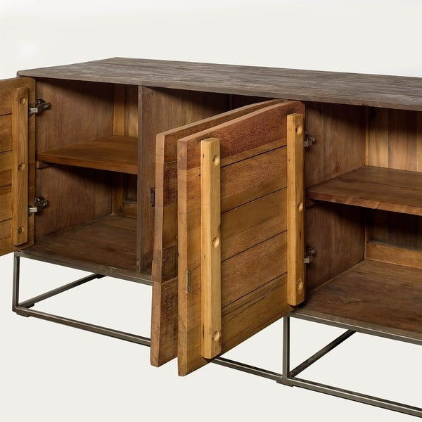 Shop Mercana Hans Iron/Wood Sideboard - Overstock - 242507