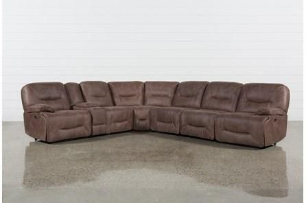 Jackson 6 Piece Power Reclining Sectional W/ Sleeper | Reclining .