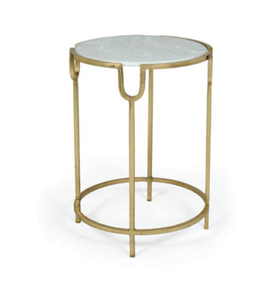 Gold and Marble Side Table | Interior Spaces in Jackson & Madison,