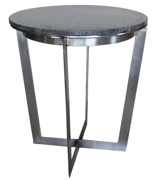 Iron Base and Marble Side Table | Interior Spaces in Jackson .