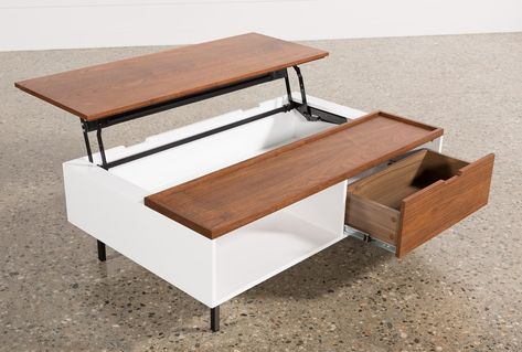 Jasper Lift-Top Coffee Table - White - $350 | Lift top coffee .