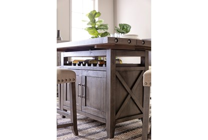 Jaxon Grey Extension Counter Table   Living Spac