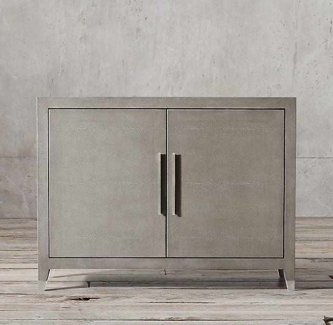 Graydon Shagreen Panel Double-Door Sideboard | Shagreen, Paneling .