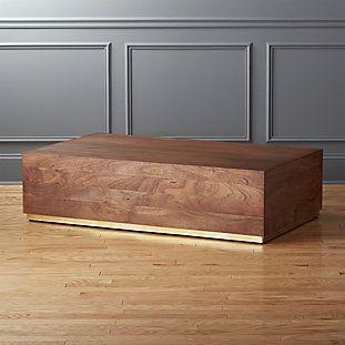 Joni Brass and Wood Coffee Table | Coffee table wood, Coffee table .