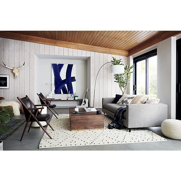 Orville Rug | Mirror wall living room, Mirror wa
