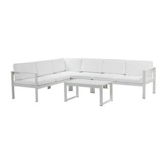 Rosecliff Heights Karen 5 Piece Sectional Seating Group with .