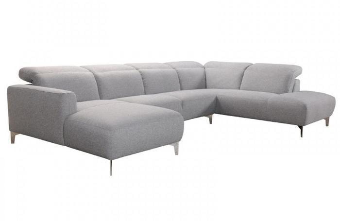 Karen Modern Grey Fabric Sectional Sofa Buy Online in Store .