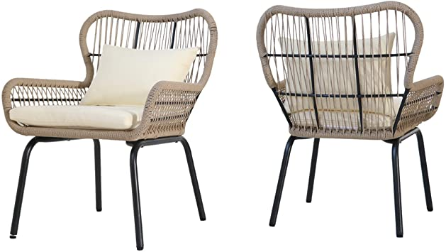Amazon.com: Christopher Knight Home Karen Outdoor Club Chairs .