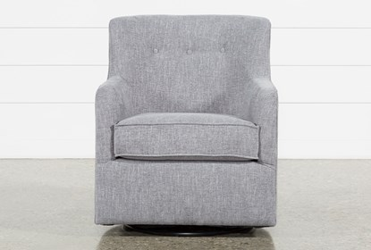 Katrina Grey Swivel Glider Chair | Living Spac
