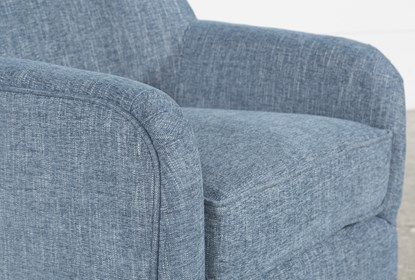 Katrina Blue Swivel Glider Chair | Living Spac