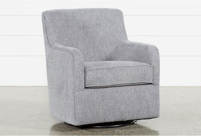 Katrina Grey Swivel Glider Chair | Swivel glider chair, Glider .