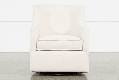 Katrina Beige Swivel Glider Chair | Living Spac