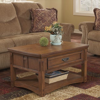 Sale +!+Signature Designs by Ashley Kelvin Hall Burnished Brown .