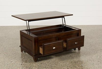 Kelvin Lift-Top Coffee Table | Coffee table living spaces, Lift .