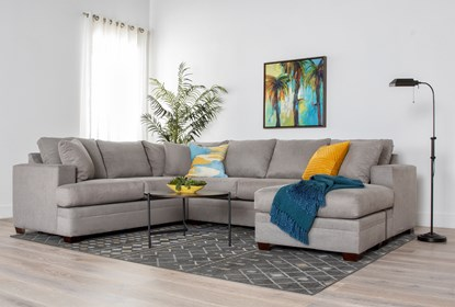 Kerri Cement 2 Piece Sectional With Right Arm Facing Sofa Chaise .