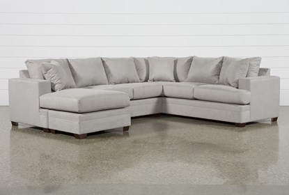 Kerri Cement 2 Piece Sectional With Left Arm Facing Sofa Chaise .