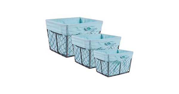 DII Z01538 Vintage Chicken Wire Baskets for Storage Removable .