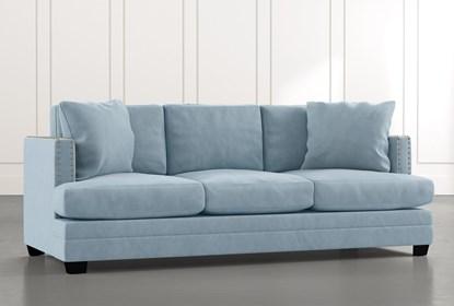 Kiara II Light Blue Sofa | Living Spac
