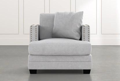 Kiara II Light Grey Chair | Living Spac