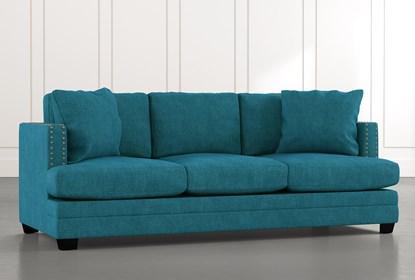 Kiara II Teal Sofa | Living Spac