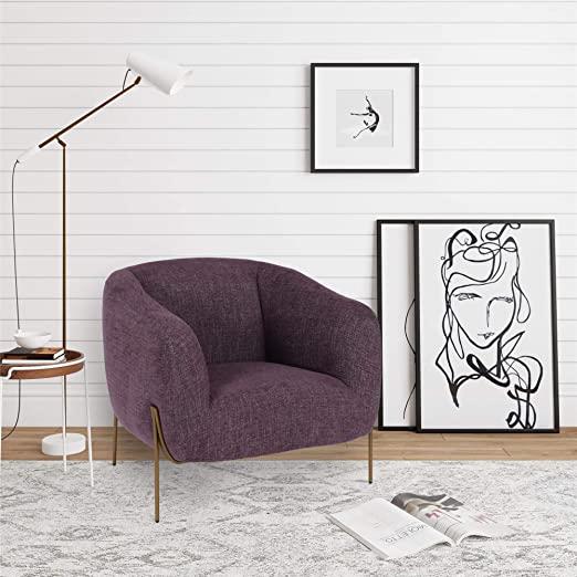 Amazon.com: CosmoLiving by Cosmopolitan Kiara, Purple Accent Chair .