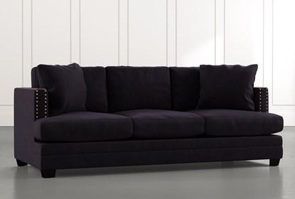 Kiara II Black Sofa | Living Spac