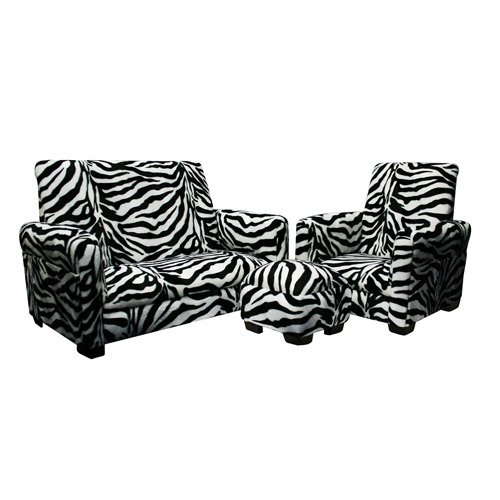 Amazon.com : Kids' Sofa, Chair and Ottoman Set, Zebra : Baby Toys .