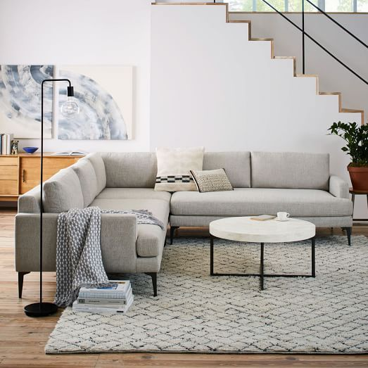 Andes 3-Piece L-Shaped Sectional | Living room sofa, Deep seating .