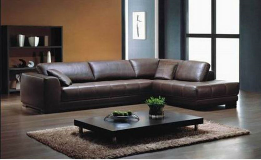 Red leather sectional | L shaped sectional sofas | Red leather .