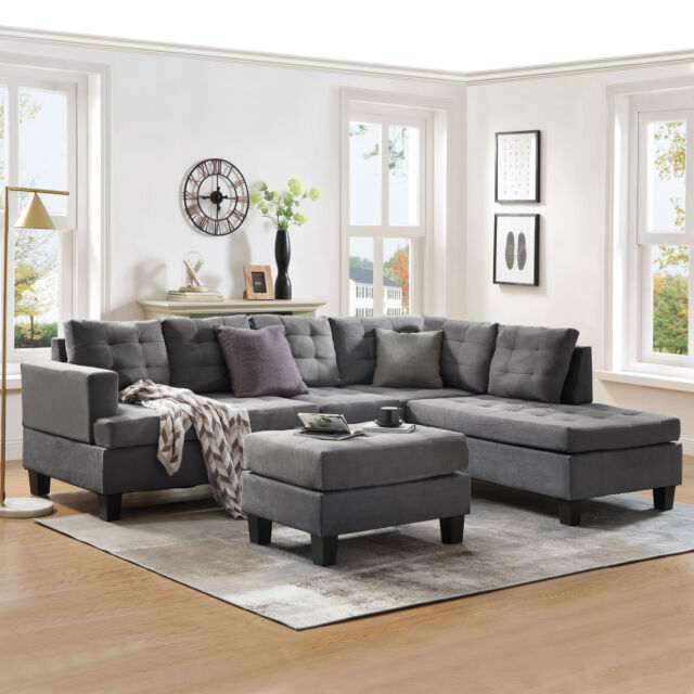 Eternity Home Panama 3 Seated Left Facing L Shaped Sectional Sofa .